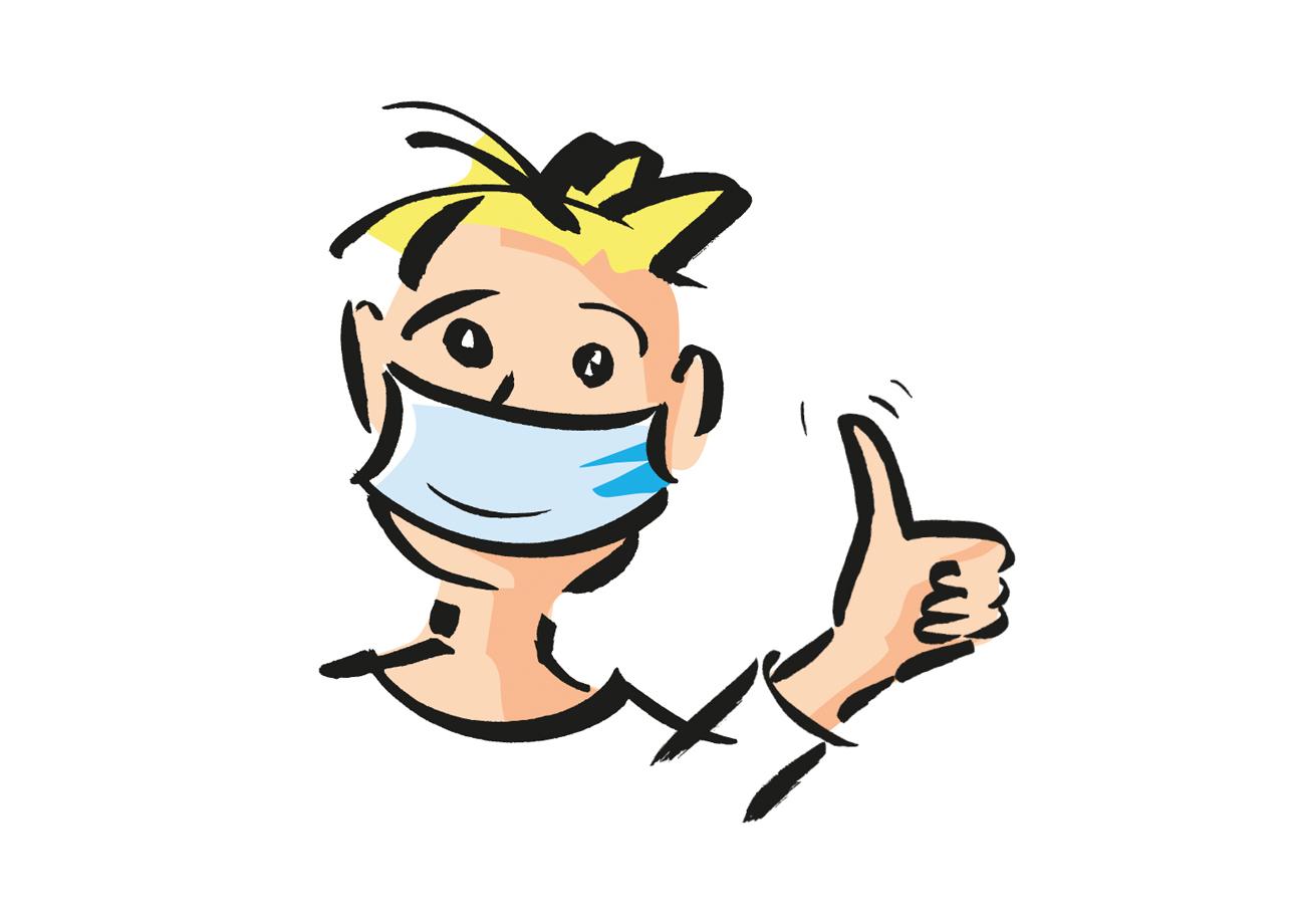 Mund- und Nasenschutz tragen