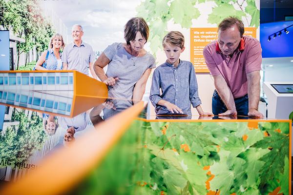 interaktiver Ausstellungsbereich