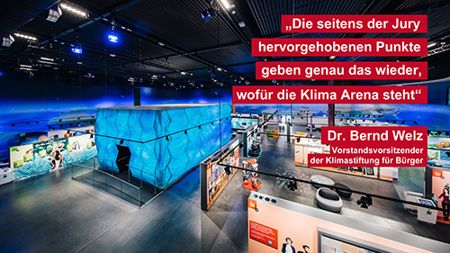 KLIMA ARENA gewinnt Marketing for Future-Award