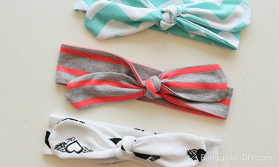 Upcycling - Do-it-yourself Haarbänder