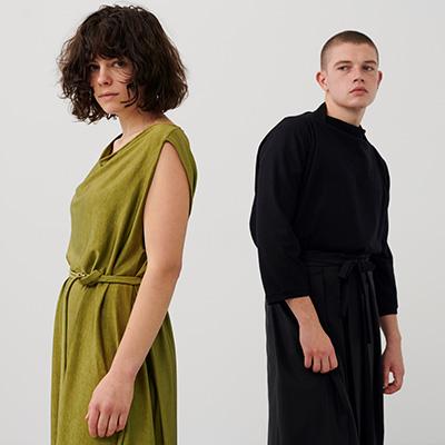 Entwickeln von nachhaltiger, moderner und innovativer Mode.